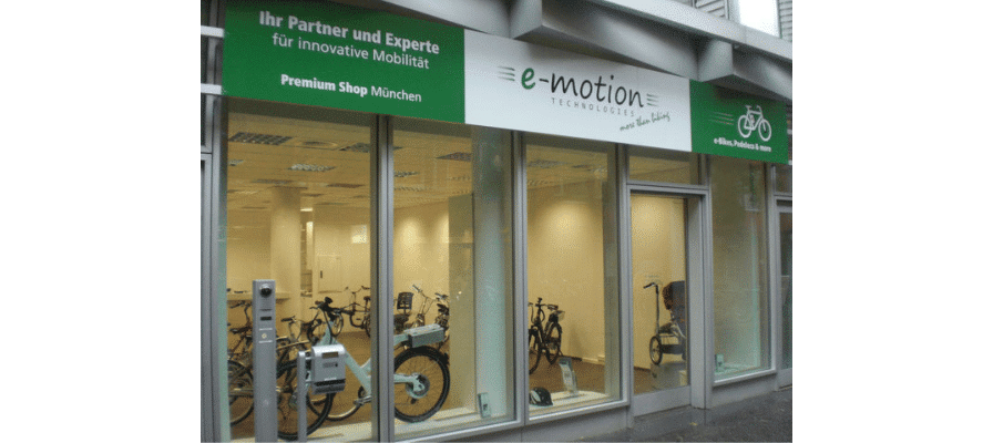 e-motion Technologies, Experte für eBikes, Pedelecs, Elektroräder, eröffnet neuen Premium-Shop im Herzen Münchens