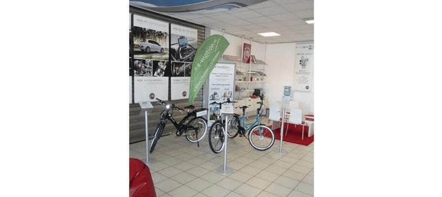 Elektrofahrräder im Shop-in-Shop System von e-motion Technologies