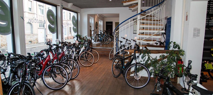 Die große Auswahl an e-Bikes in der e-motion e-Bike Welt Worms