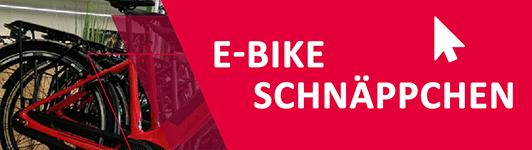 e-Bike Schnäppchen Banner