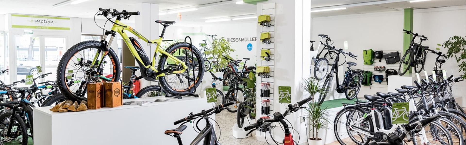 Der Shop der e-motion e-Bike Welt Berlin Steglitz