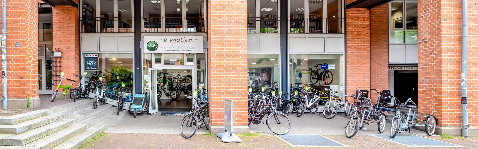 Der Shop des e-motion e-Bike Premium-Shop Hannover
