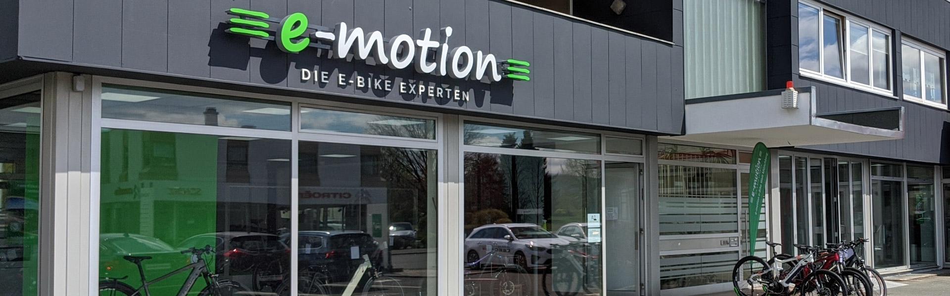 Der Shop der e-motion e-Bike Welt Münchberg