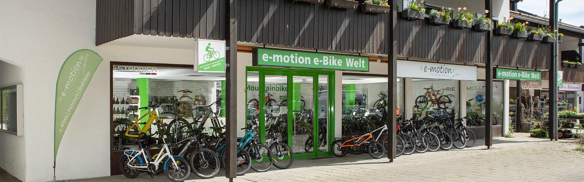 Der Shop der e-motion e-Bike Welt München Süd