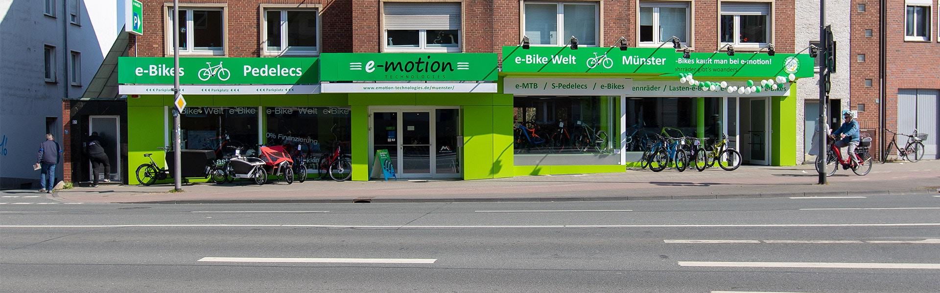 Der Shop der e-motion e-Bike Welt Münster