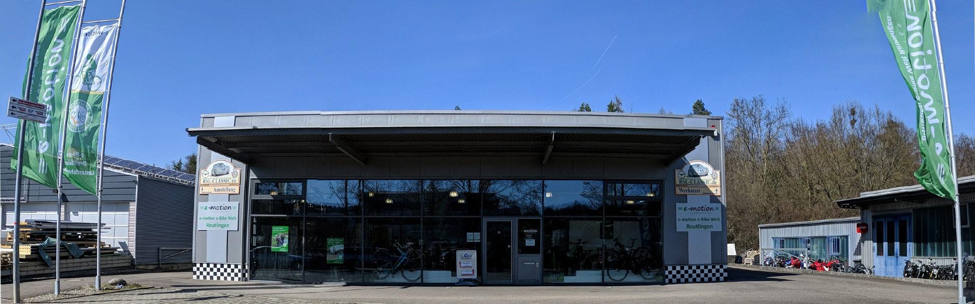 Der Shop der e-motion e-Bike Welt Reutlingen
