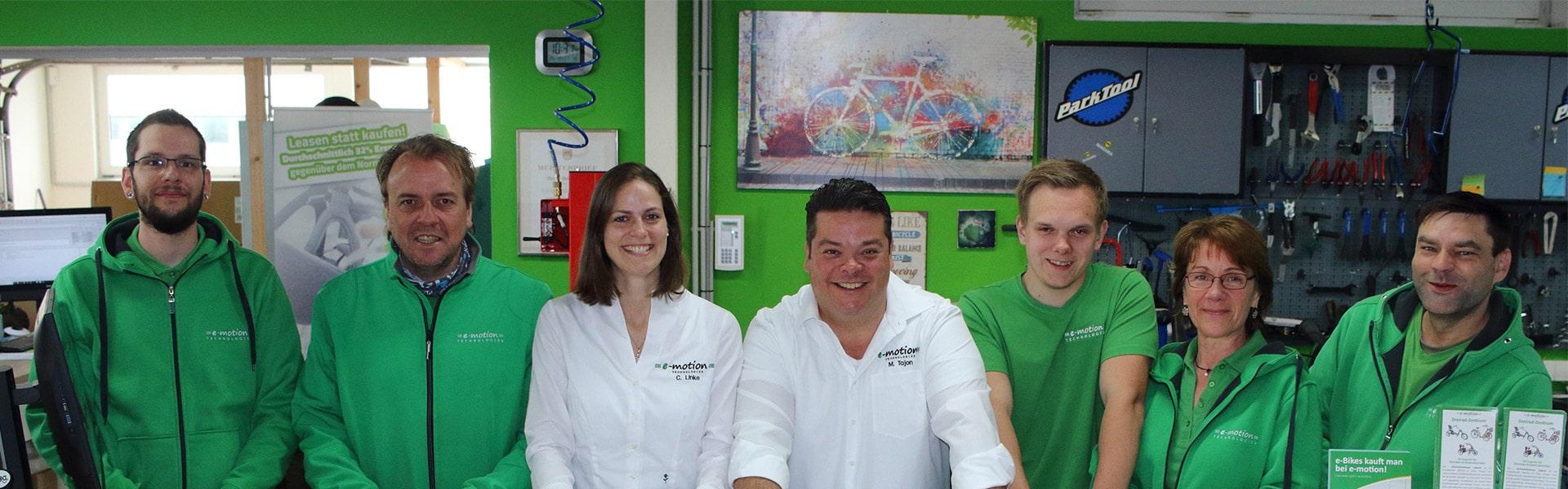 Das Team der e-motion e-Bike Welt Luebeck