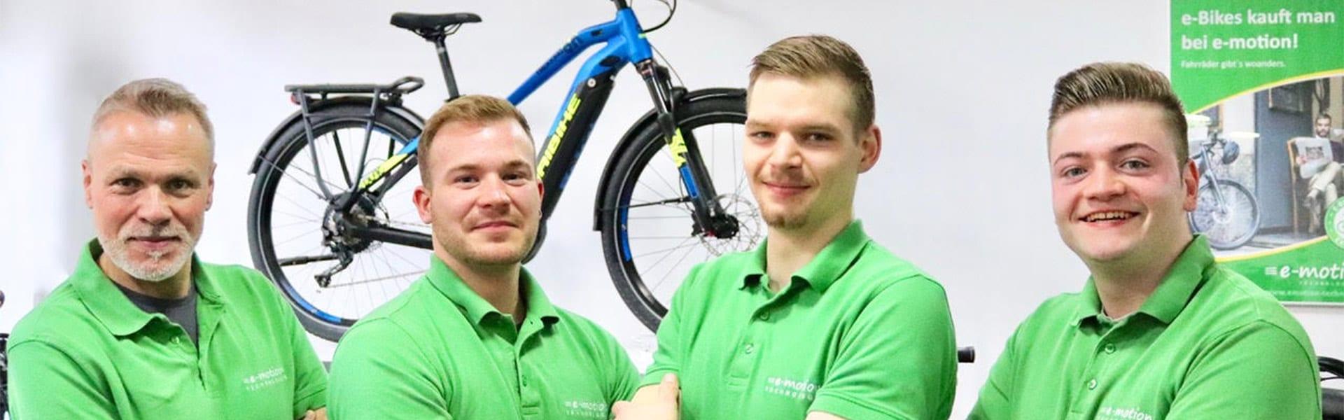 Das Team des e-motion e-Bike Premium-Shop Hannover