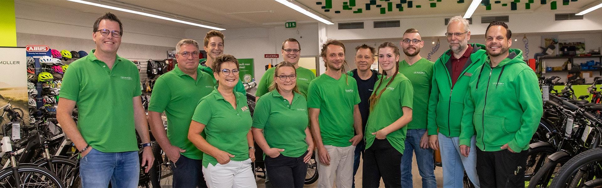 Das Team der e-motion e-Bike Welt Münster