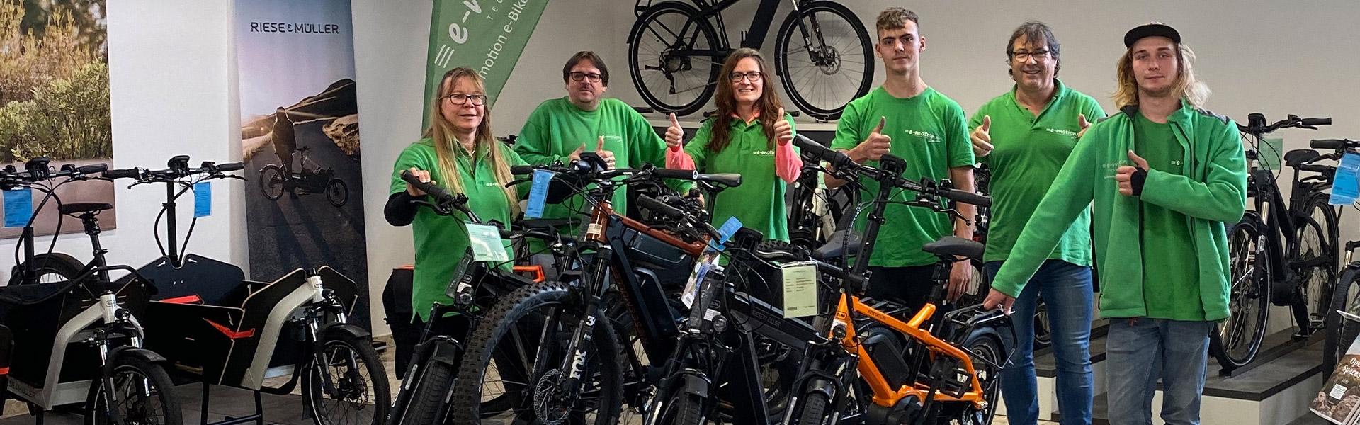 Das Team der e-motion e-Bike Welt Ravensburg