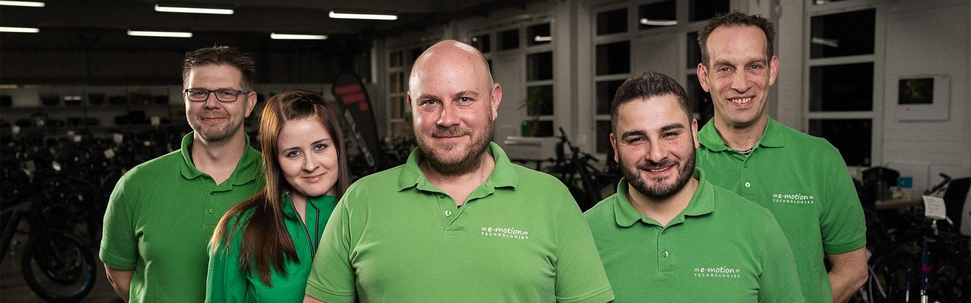 Das Team des e-motion e-Bike Premium-Shop Velbert