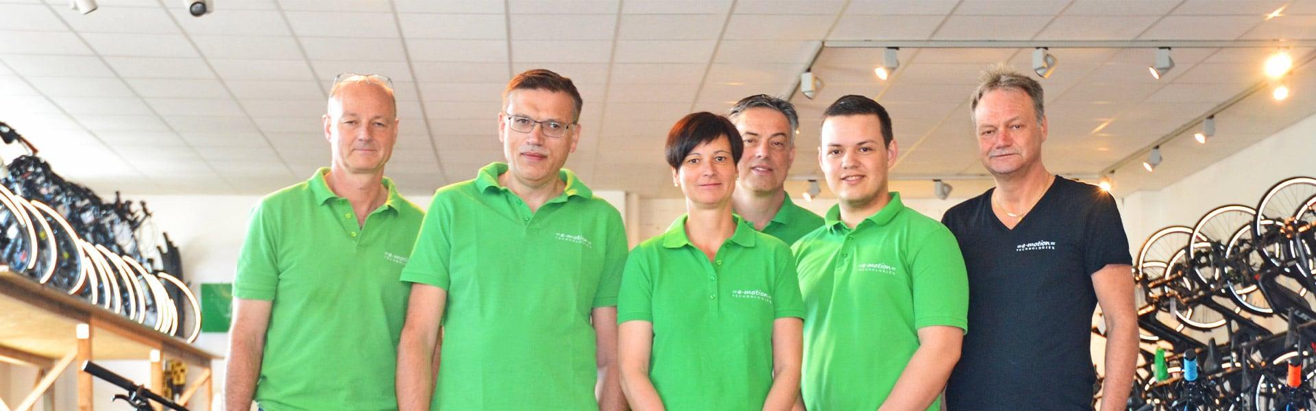Das Team des e-motion e-Bike Premium-Shop Würzburg