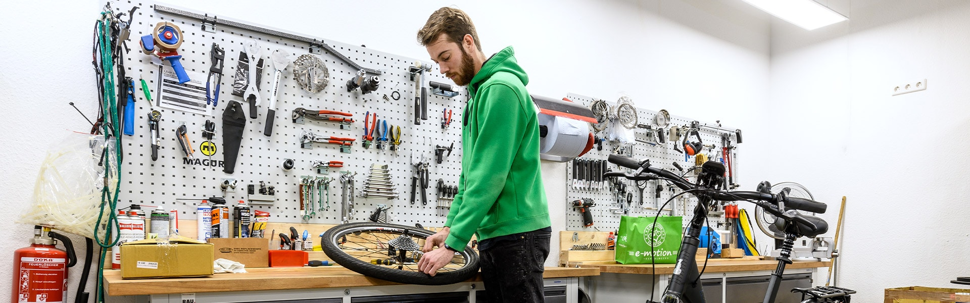 Die Werkstatt der e-motion e-Bike Welt Bochum