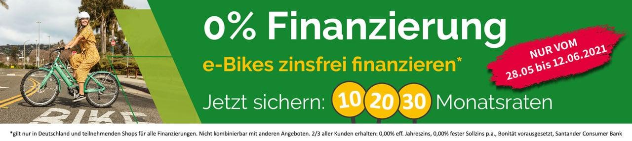 0 % Finanzierung bei e-motion vom 28. Mai bis zum 12. Juni