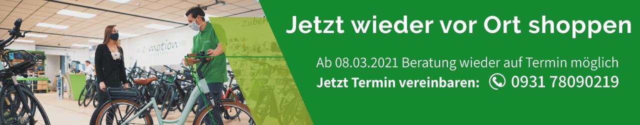 e-Bike Beratung in Würzburg wieder möglich - Jetzt Termin sichern