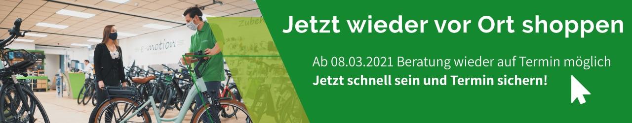 e-Bike Beratung vor Ort wieder möglich - nur auf Termin!
