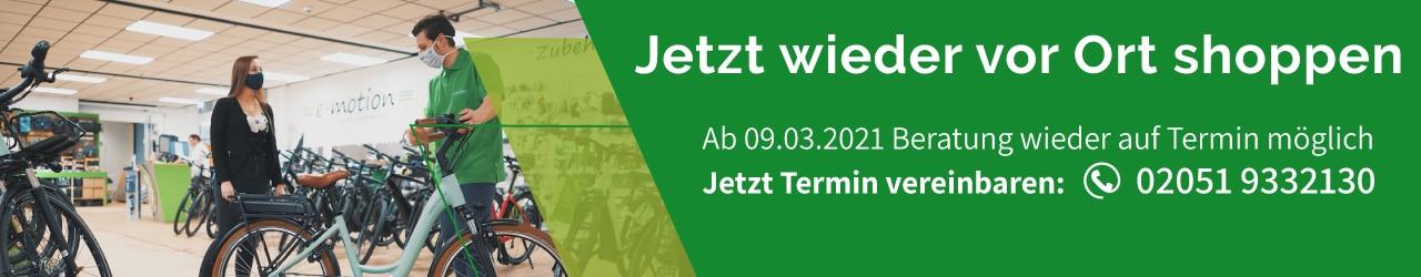 e-Bike Beratung in Velbert wieder möglich - nur auf Termin!