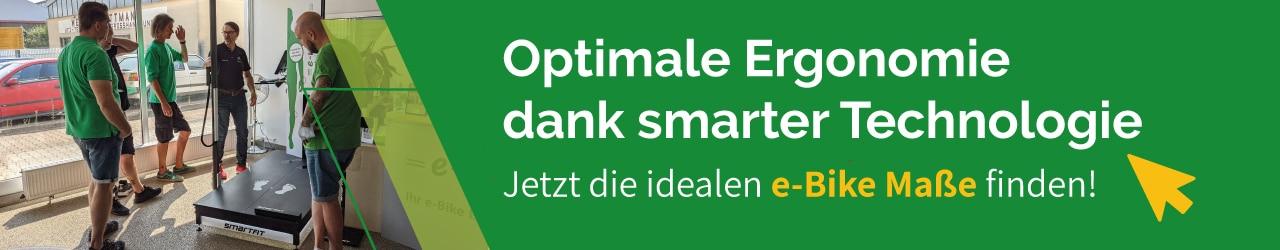 smartfit Technologie zur Größenbestimmung des perfekten e-Bikes in Heidelberg & Worms