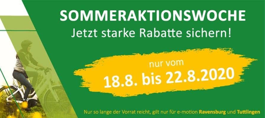 Banner zur Sommeraktionswoche in Tuttlingen und Ravensburg
