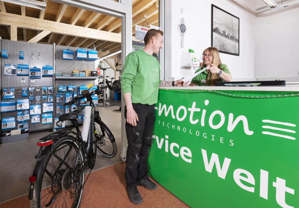 Service in der e-motion e-Bike Welt Tuttlingen