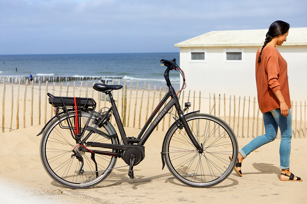 Gazelle e-Bike am Strand