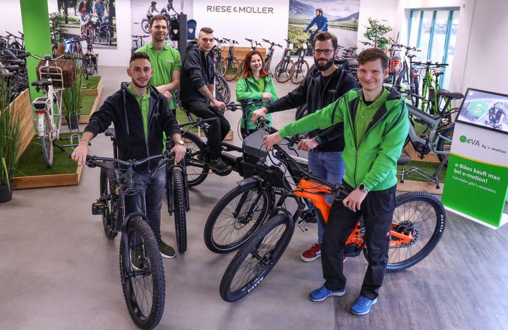 Das Team der e-motion e-Bike Welt Gießen