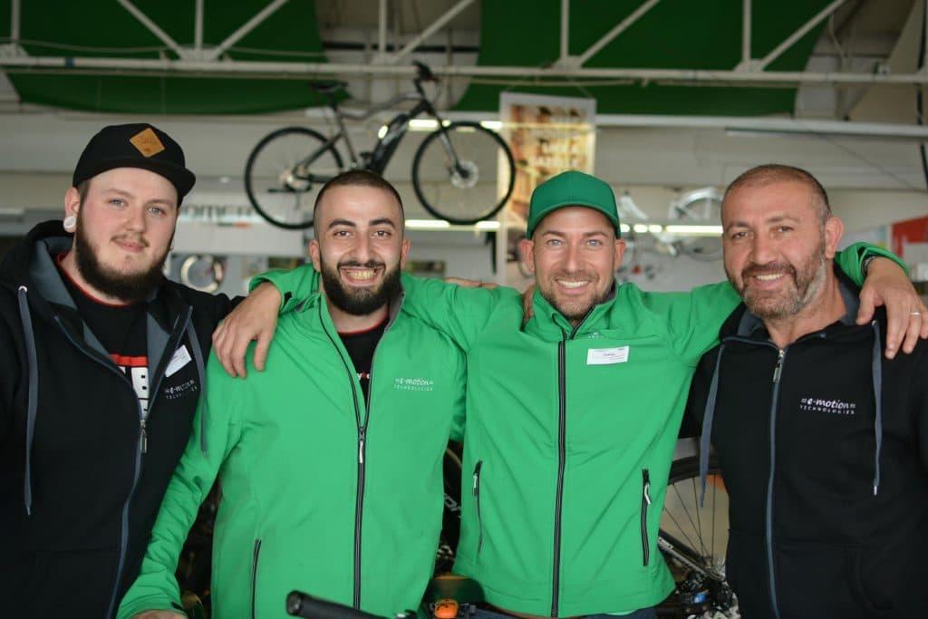 Das Team der e-motion e-Bike Welt Saarbrücken