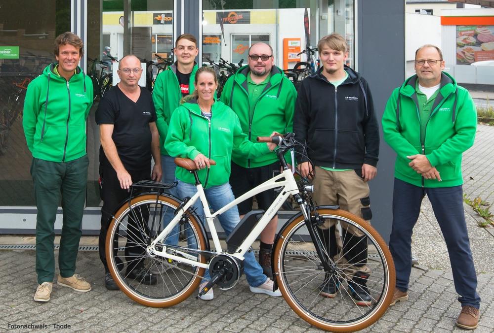 Das e-Bike Berater und Service Team der e-motion e-Bike Welt Schleswig