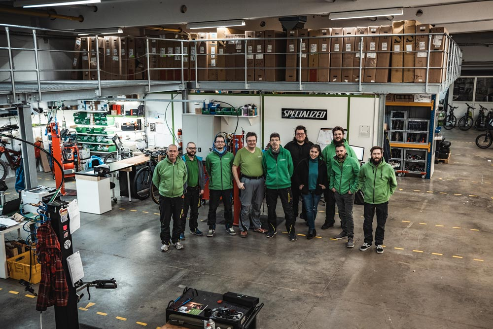 Das Service-Team des e-motion e-Bike Premium Shops Velbert