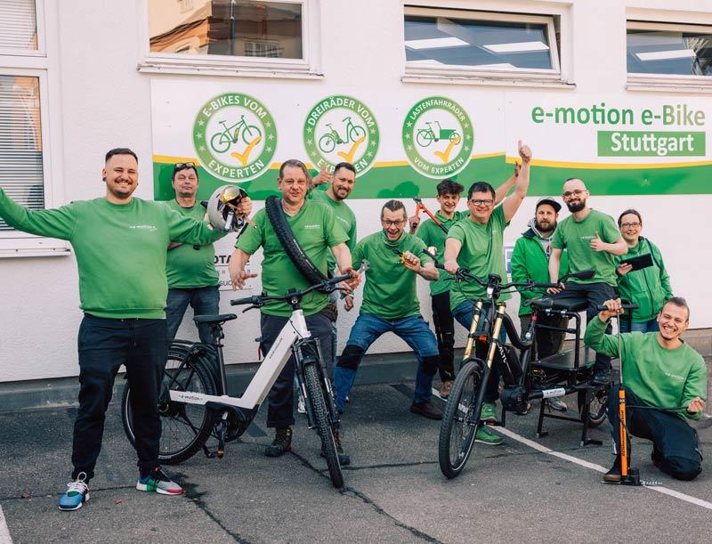 Teambild e-motion Stuttgart