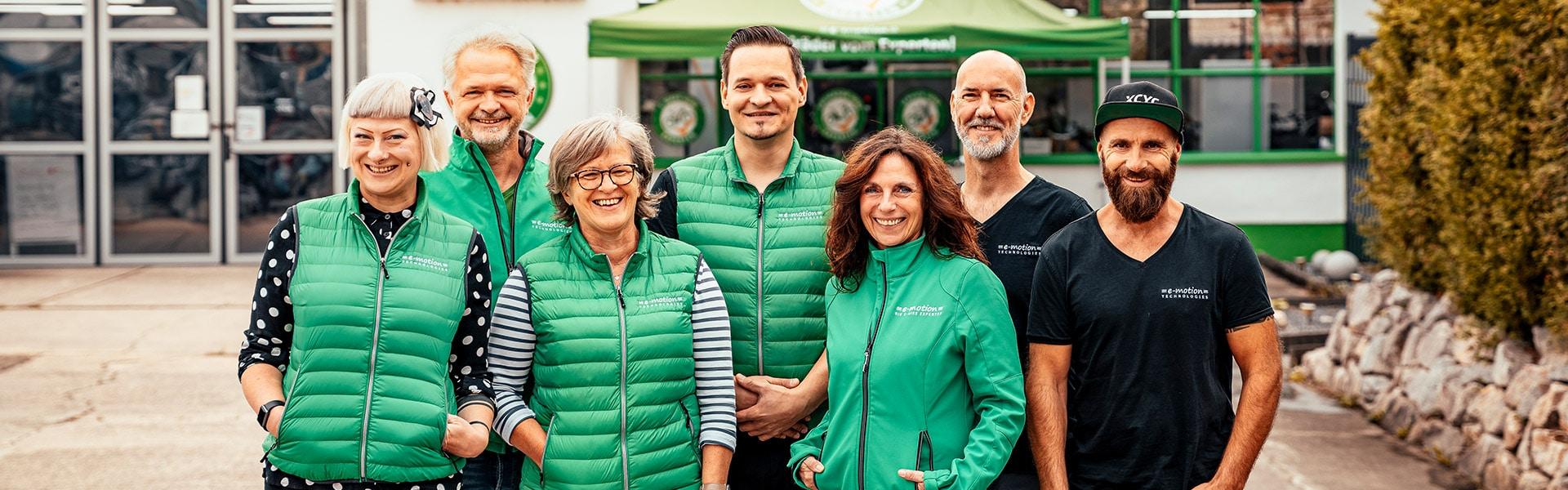 Das Team der e-motion e-Bike Welt Karlsruhe