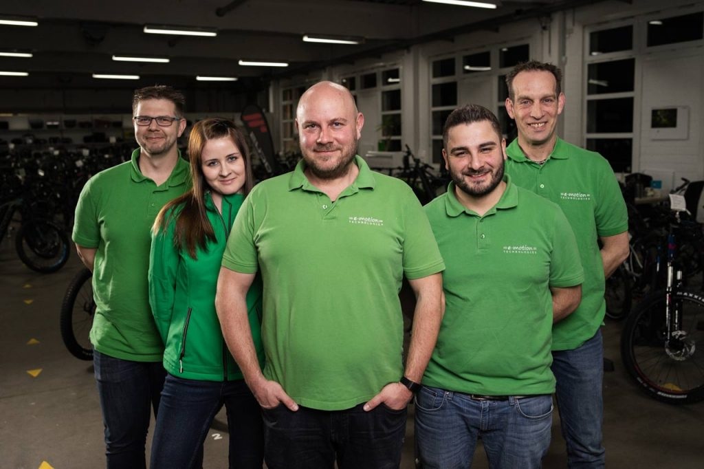 Das Team des e-motion e-Bike Premium-Shops Velbert