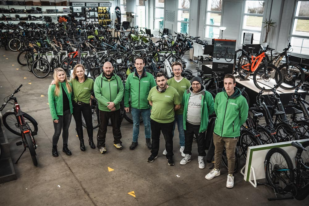Das Verkauf-Team des e-motion e-Bike Premium Shops Velbert