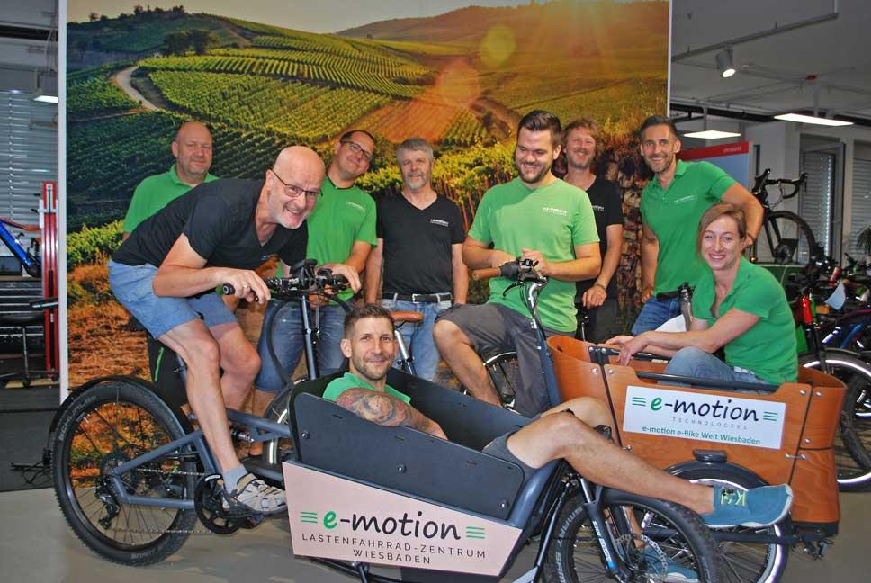 Die e-Bike Experten in der e-motion e-Bike Welt Wiesbaden