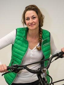 • Expertin von Dreirädern und Lastenrädern<br>• Heilerziehungspflegerin <br>• e-Bikerin aus Leidenschaft