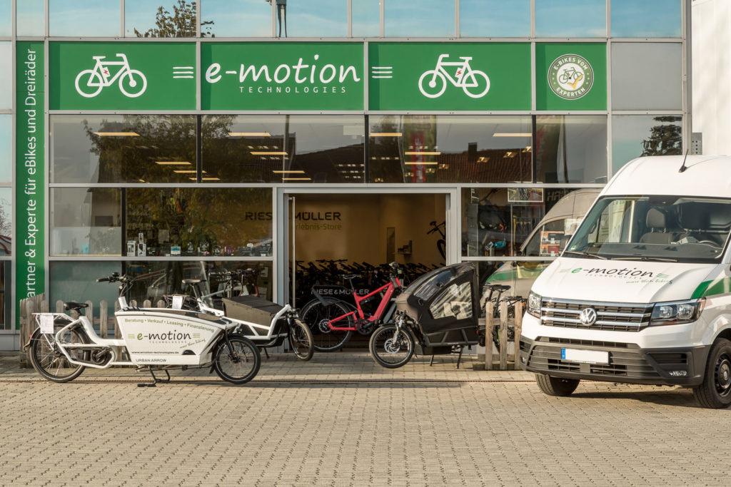 Die e-motion e-Bike Welt Nürnberg West