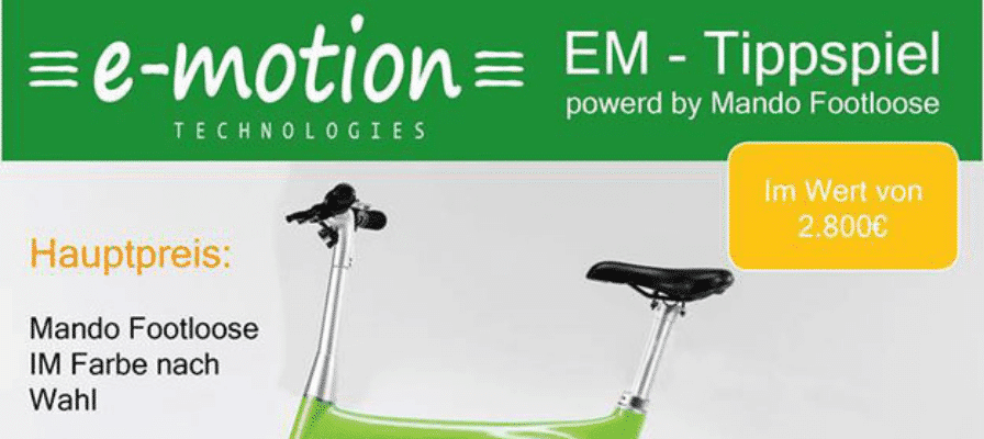 EM Tippspiel – Mando Footloose e-Bike zu gewinnen