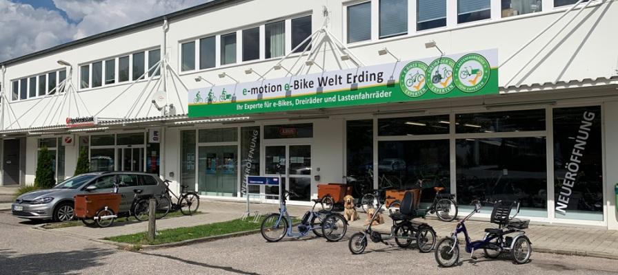 Außenansicht der e-motion e-Bike Welt Erding