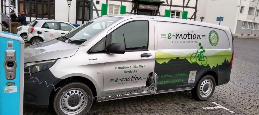 Der Elektro-Transporter der e-motion e-Bike Welt Herdecke