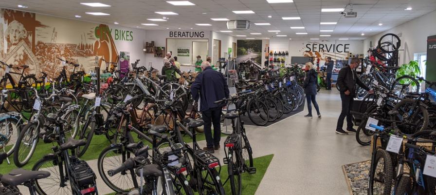 Innenansicht der e-motion e-Bike Welt Bremen