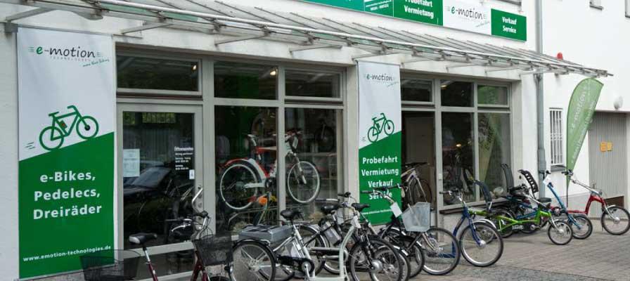 Die Außenansicht der e-motion e-Bike Welt München Süd