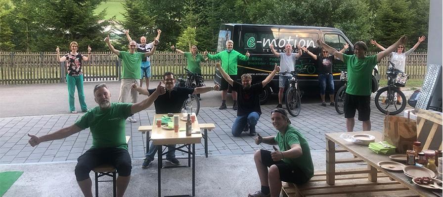 Das Team der e-motion e-Bike Welt Tuttlingen beim Stadtradeln