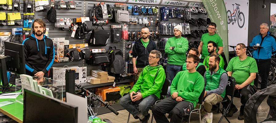 Shimano Schulung in der e-motion e-Bike Welt Stutttgart