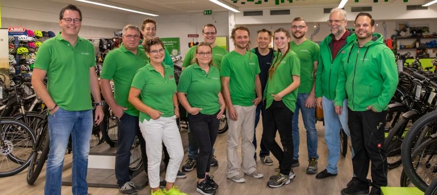 Team der e-motion e-Bike Welt Münster