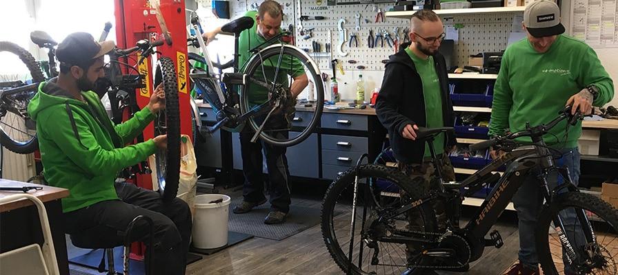 Die Werkstatt der e-motion e-Bike Welt Stuttgart