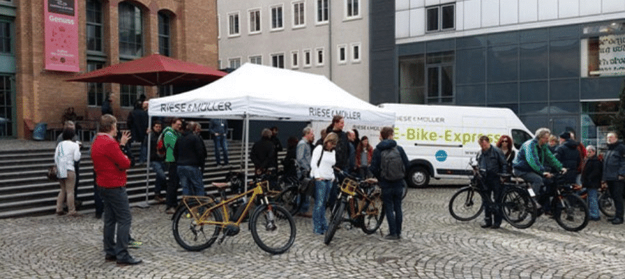 e-Bike Stand von Riese & Müller