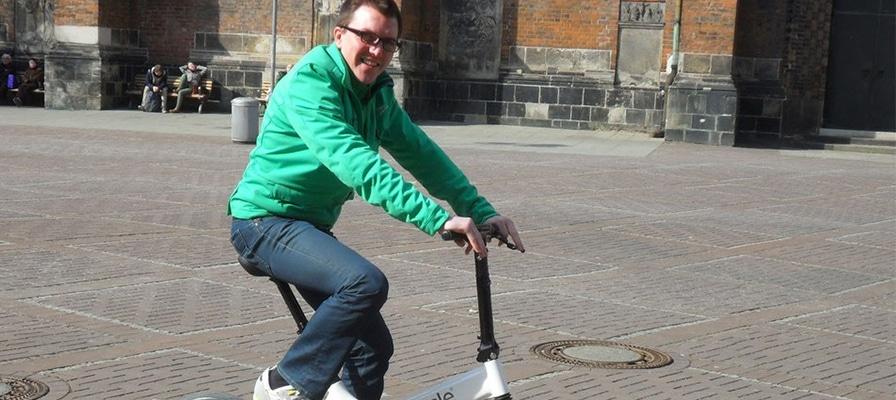 Simon Praetze auf dem Gocycle in Hannover