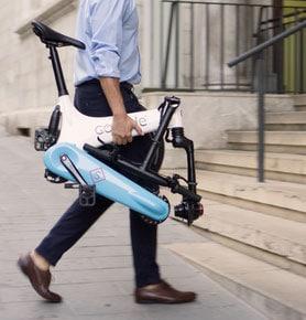 Falt- und Kompakt e-Bike bequem mitnehmen