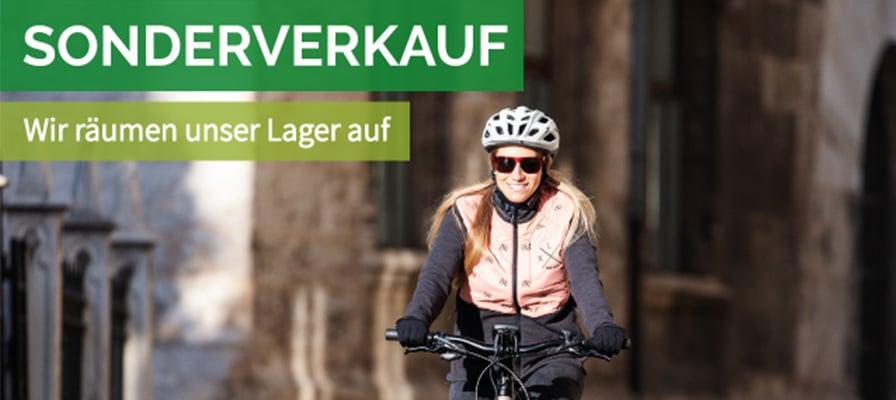 Banner zum Sonderverkauf in der e-motion e-Bike Welt Stuttgart