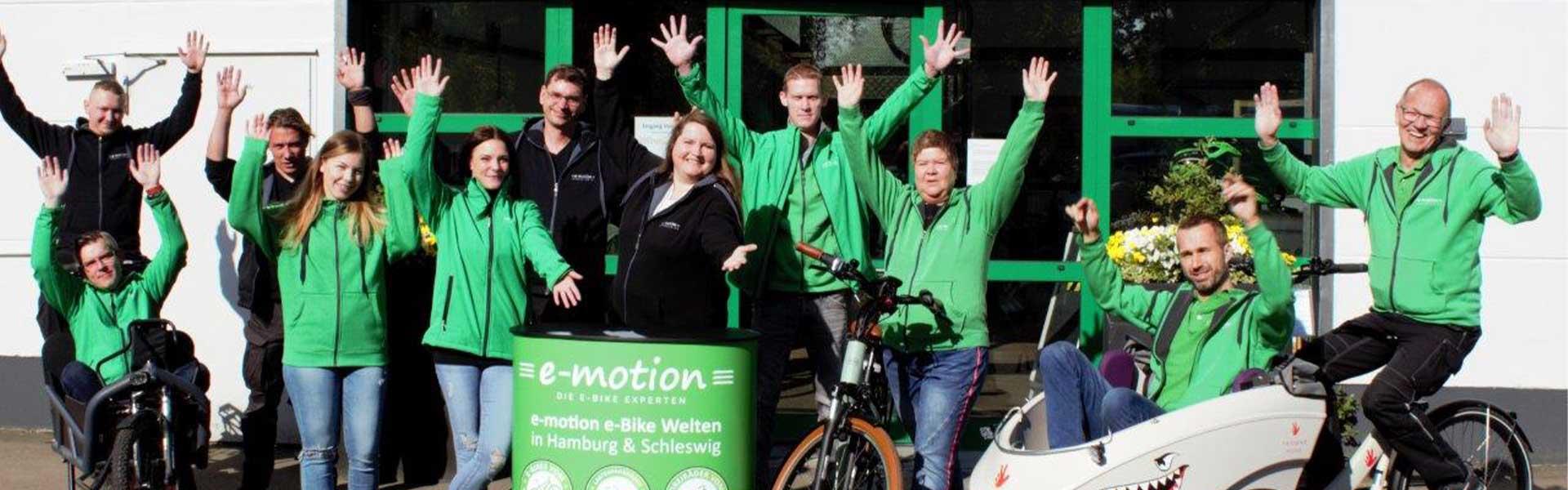 Das Team der e-motion e-Bike Welt Hamburg